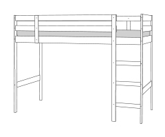High single bunk bed