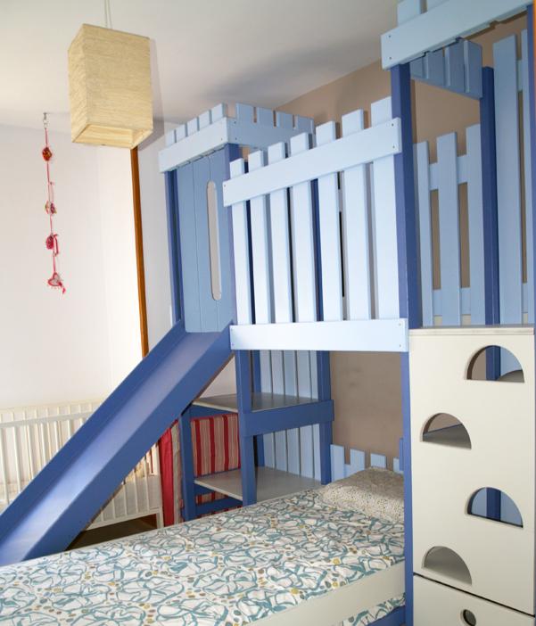 Galer a fotogr fica mobiliario infantil l dico play 39 n house - Camas con tobogan para ninos ...