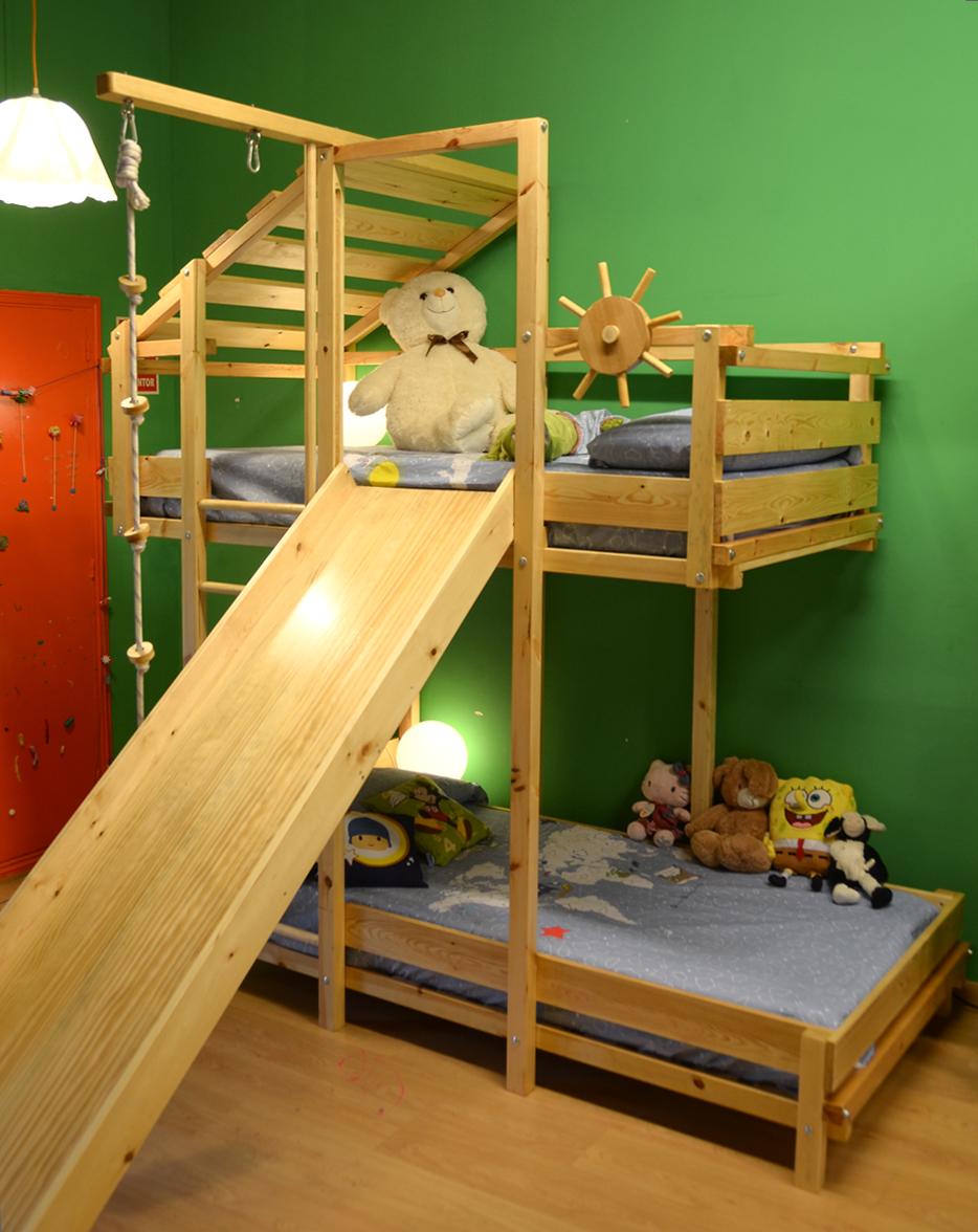 Galer a fotogr fica mobiliario infantil l dico play 39 n house - Literas infantiles con tobogan ...