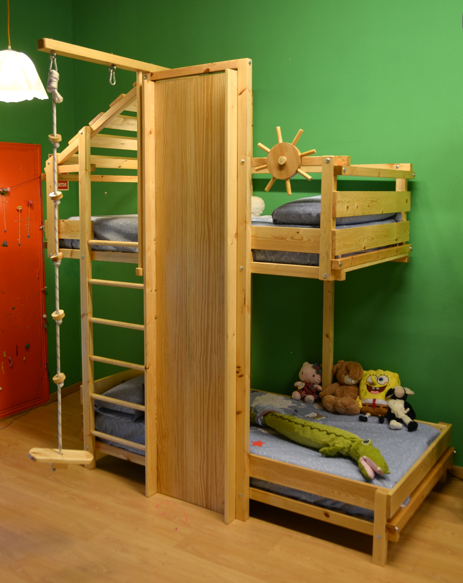 Photo gallery of fun furniture for kids play 39 n house - Literas infantiles con tobogan ...